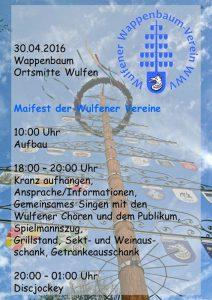 Plakat für das Maifest