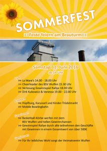 Flyer Sommerfest am Brauturm