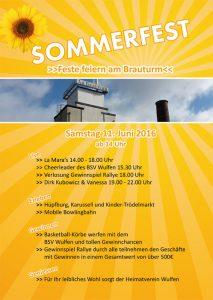 Flyer Sommerfest am Brauturm